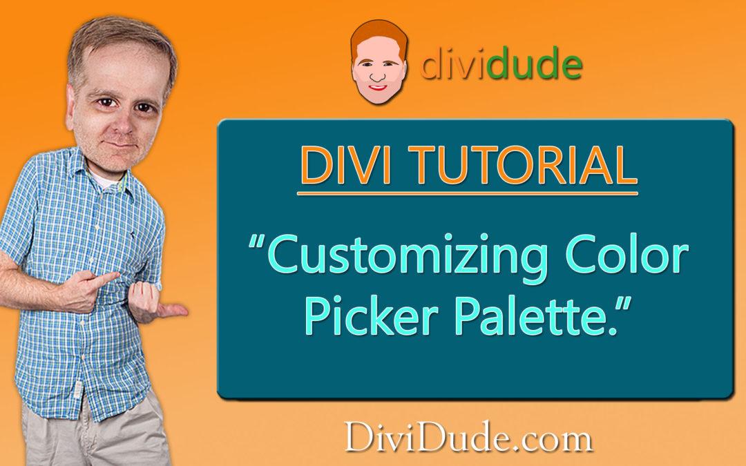 Customize Color Picker Palette
