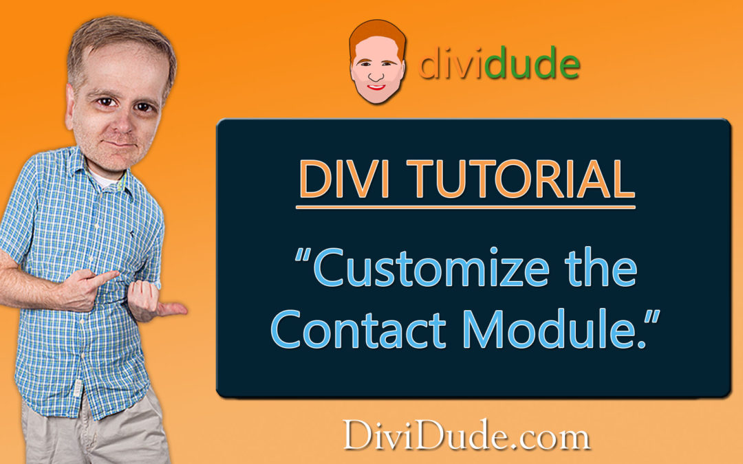 Customize Divi's Contact Form Module