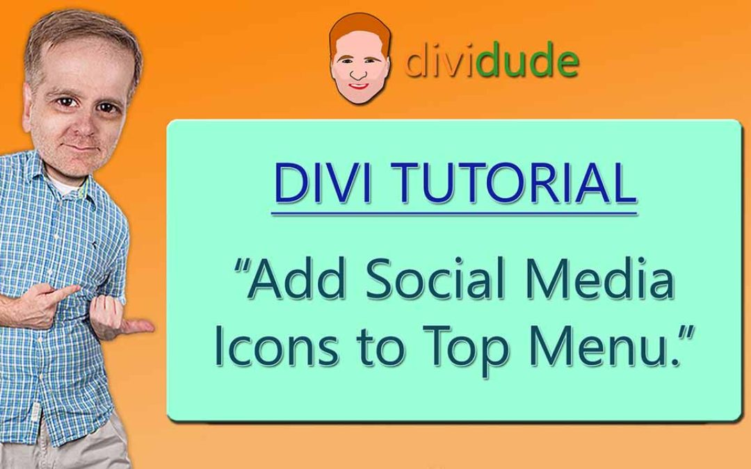 Add Social Media Icons to Divi