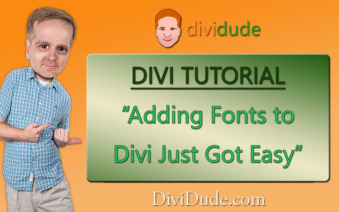How to Add Fonts in Divi