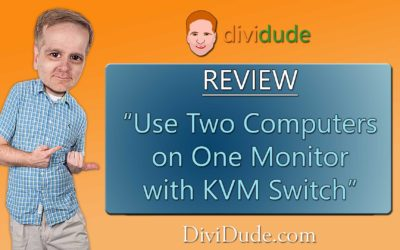 Easy to use KVM switch lets you use two computers with one monitor