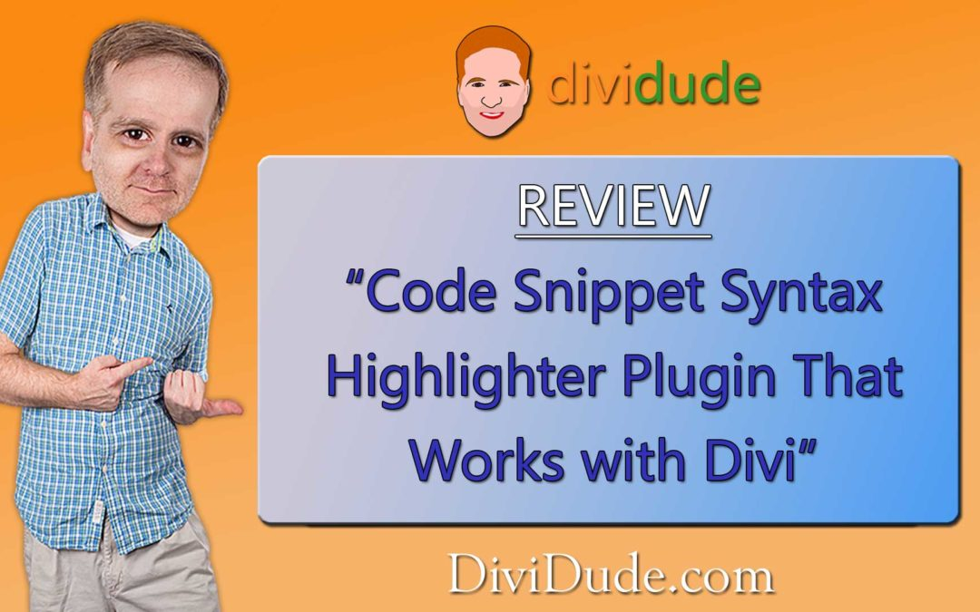 Code Snippet Syntax Highlighter that Works with Divi – Review