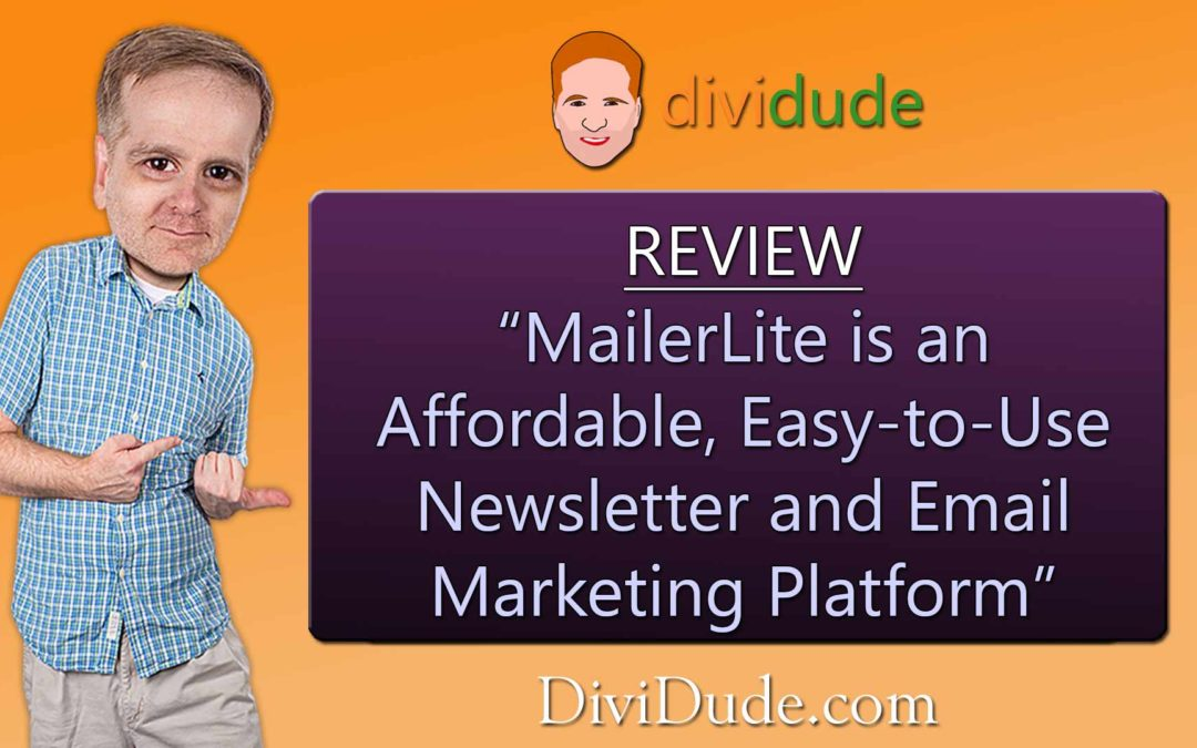 MailerLite is an affordable, easy-to-use newsletter and email marketing platform